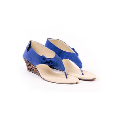 Ten Suade Leather 266 Women's Sandals - Blue