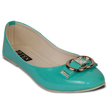 Ten Patent Leather Bellies For Women_tenbl019 - Green