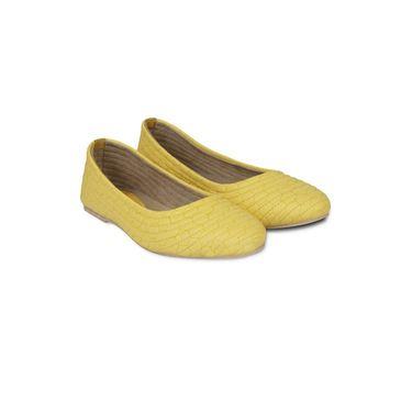 Ten Faux Leather Bellies For Women_tenbl032 - Yellow