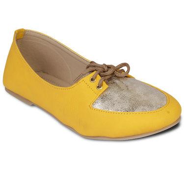 Ten Faux Leather Bellies For Women_tenbl045 - Yellow