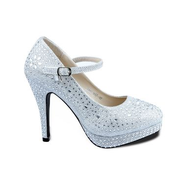 Ten Synthetic Heeled Sandals For Women_tenbl063 - Silver