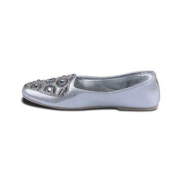 Ten Suede Leather Loafers For Women_tenbl084 - Silver
