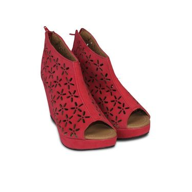 Ten Suede Leather Pumps For Women_tenbl098 - Red