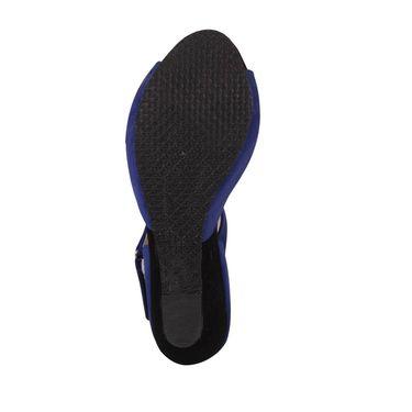 Ten Suede Leather Heels Sandals For Women_tenbl106 - Blue