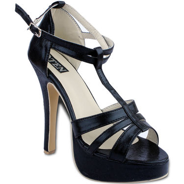 Ten Synthetic Sandals  For Women_tenbl128 - Black