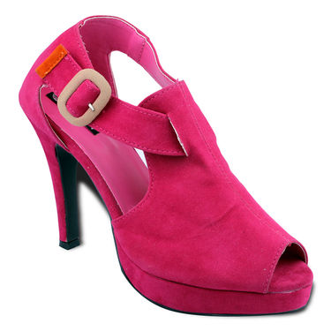 Ten Suede Leather Stilettos For Women_tenbl130 - Pink