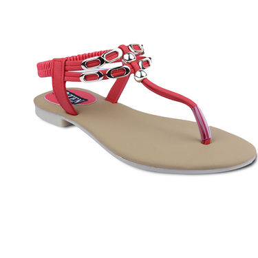 Ten Faux Leather Womes Sandals For Women_tenbl135 - Red