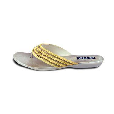 Ten Synthetic Sandals For Women_tenbl167 - Yellow