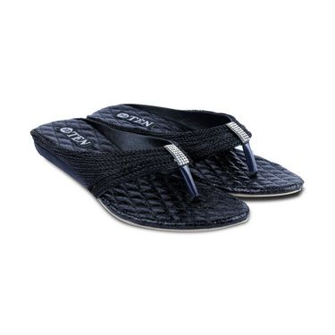 Ten Synthetic Sandals For Women_tenbl174 - Black
