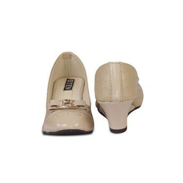 Ten Faux Leather Wedges For Women_tenbl199 - Beige