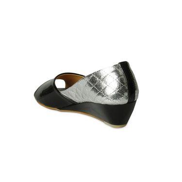 Ten Patent Leather Wedges For Women_tenbl217 - Black
