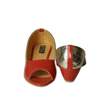 Ten Patent Leather Wedges For Women_tenbl218 - Orange