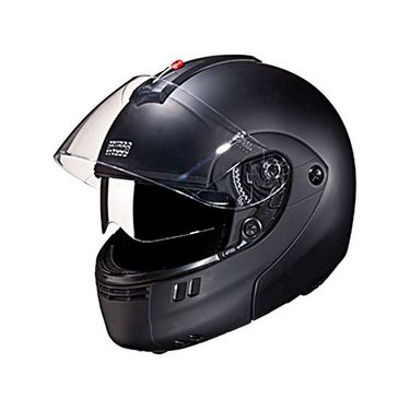 Studds - Full Face Helmet - Ninja 3G Double Visor FlipUp (Matte Black) [Extra Large - 60 cms]
