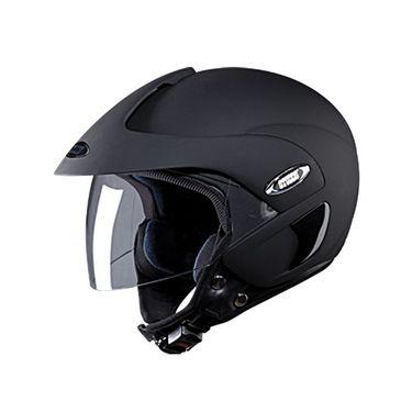 Studds - Open Face Helmet - Marshall (Matte Black) [Large - 58 cms]