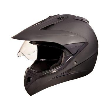 Studds - Full Face Helmet - Motocross Plain (Matte Black) [Large - 58 cms]