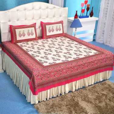 Traditional Collection - 8 Bedsheets + 12 Pillow Covers (100% Cotton) (4DSBS19)