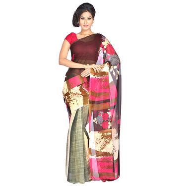 Trisha Collection of 9 Georgette Sarees by Pakhi (9G3) with 9 Free Jewellery