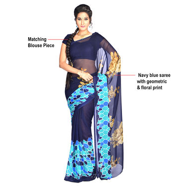 Trisha Collection of 9 Georgette Sarees by Pakhi (9G3)