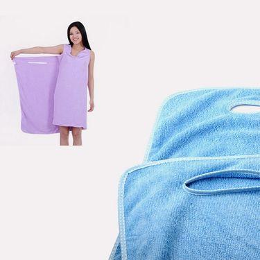 Bathrobe cum Towel-Pink-ULBATHTAROBE-PI