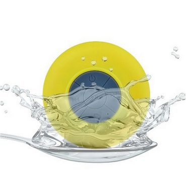 Electron Bluetooth Waterproof Shower Speaker - Yellow