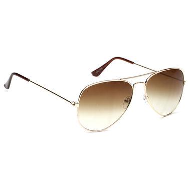 Alee Metal Oval Unisex Sunglasses_129 - Brown
