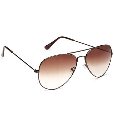Alee Metal Oval Unisex Sunglasses_128 - Brown