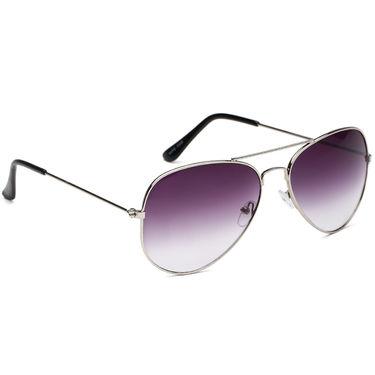 Alee Metal Oval Unisex Sunglasses_126 - Purple