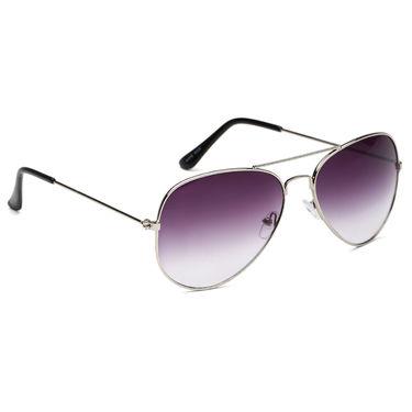 Alee Metal Oval Unisex Sunglasses_123 - Purple
