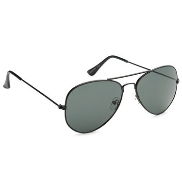 Alee Metal Oval Unisex Sunglasses_179 - Green