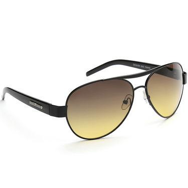 Alee Metal Oval Unisex Sunglasses_176 - Brown