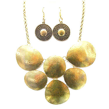 Urthn Antique Necklace Set - Golden - 1102552