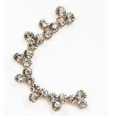Urthn Austrian Diamond Single Ear Cuff - White _ 1302509