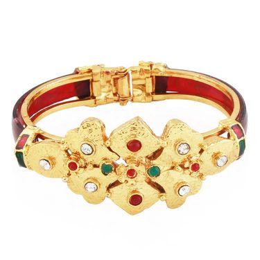 Variation Red & Green Designer Ethnic Openable Bangle_Vd13761