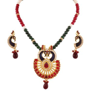 Combo of 3 Variation Necklace Sets + 1 Chain Pendent Set_Vd14029