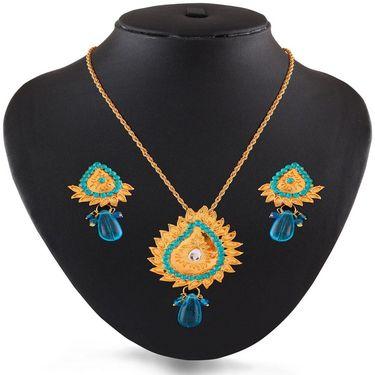 Variation Blue Ethnic Fashion Pendant Set_Vd15255