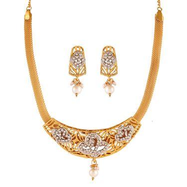Variation Gold Plated Fashion Necklace Set_Vd15379