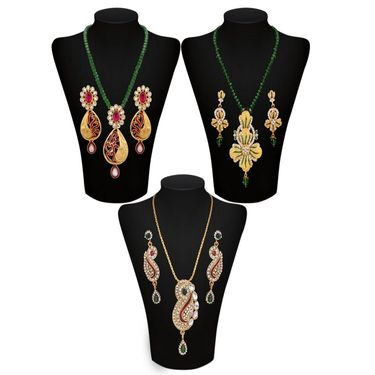 Combo of 3 Chain Pendant Sets_Vd15713