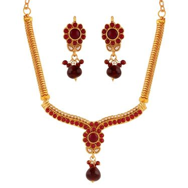 Combo of 5 Variation Nacklace Sets + 1 Chain Pendant Sets_Vd15718