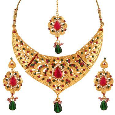 Variation Multi Diamond Gold Plated Necklace Set_Vd15915