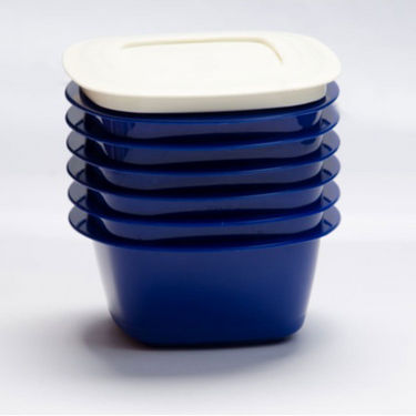 Cutting Edge Microwaveable Veggie Fresh 1500 ml Containers Set Of 5 Blue