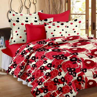 Storyathome 100% Cotton Double Bedsheet With 2 Pillow Cover-VL1201