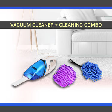 Car Vacuum Cleaner with Cleaning Combo