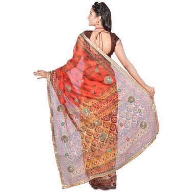 Vedika Pack of 6 Embroidered Jodhpuri Sarees