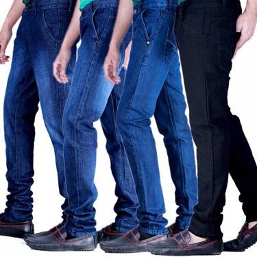 Velgo Club Pack of 4 Plain Regular Fit Jeans_NPG-JEN-9-36-38-41