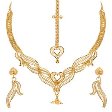 Vendee Fashion Heritage Necklace Set - Golden - 8337