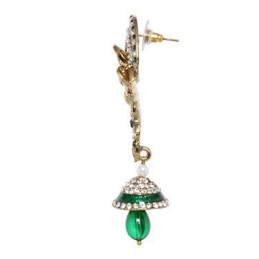 Vendee Fashion Leafy Style Earrings - Green - 8391