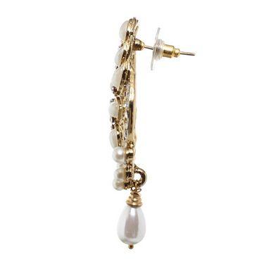 Vendee Fashion Unique Drop Earrings - Golden - 8418