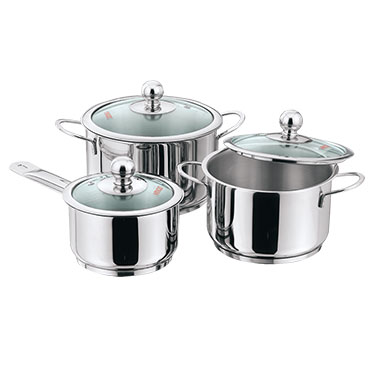 Vinod 202 3pcs Induction Friendly Tuscany - Silver