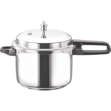 Vinod 7 Ltr Induction Friendly SS Sandwich Bottom Pressure Cooker With Lid - Silver