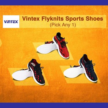 Vintex Flyknit Sports Shoes (CS9) - Pick Any 1